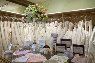 Hitched gown racks