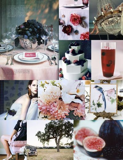 Plums-grapes-figs-fruit-centerpiece-magenta-red-pink-blue-black-purple-wedding-inspiration-board