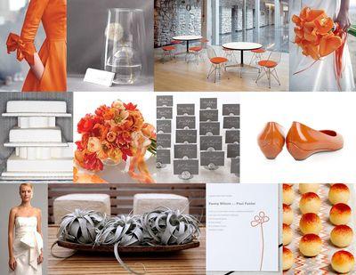 Orange-and-gray-modern-urban-wedding-inspiration-board