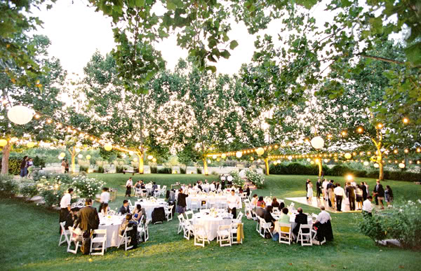 Outdoor wedding with string lights 9 junglespirit Gallery