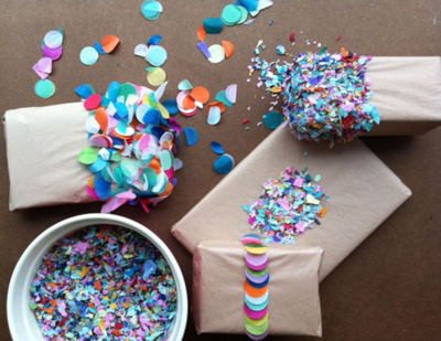 Confetti wrapping