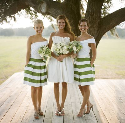 Southern-weddings-striped-skirts