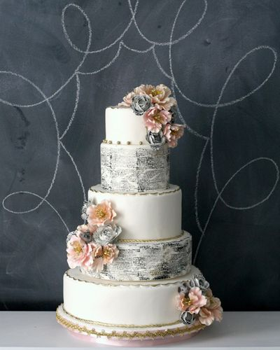 Vintage-book-pages-wedding-cake