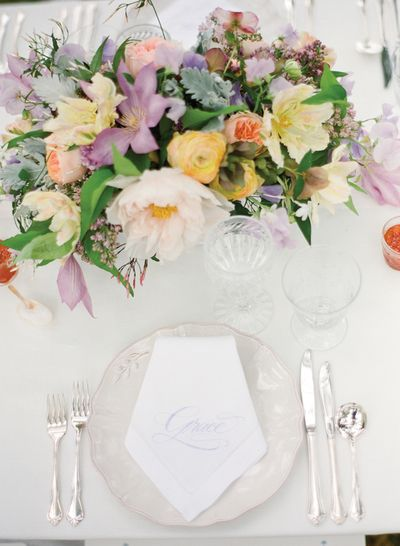 Southern-wedding-embroidered-napkin
