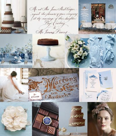 Chocolate-brown-french-blue-wedding-colors