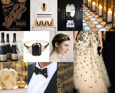 Black-gold-halloween-wedding
