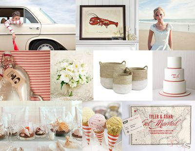 Red-striped-beach-wedding