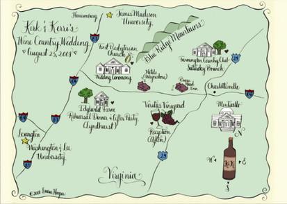 we love wedding maps Ritzy Bee Blog
