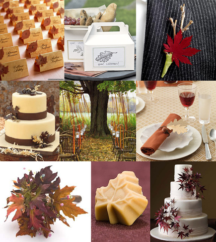 fall wedding without incorporating them in some form or another